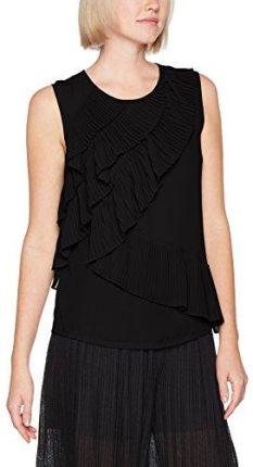 566acc730279b Amazon Sisley torebka damska bluzka sleevless blouse Top with Ruffles