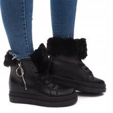21840ba669e1c Ocieplane Botki Sneakersy Trampki SJ665-1 Black 38 Allegro