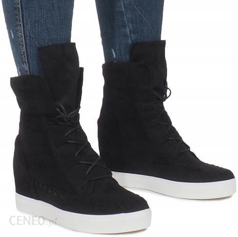 5532c2de8132b Sneakersy Botki Zamsz Koturn AT-0615-L Czarny 38 - Ceny i opinie ...