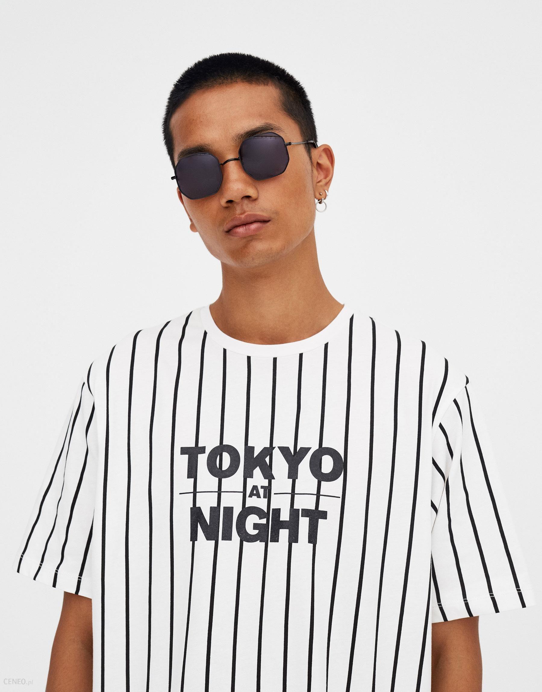 "98c873777 Pull&Bear Koszulka w pionowe paski ""Tokyo Night"" - Ceny i opinie ..."
