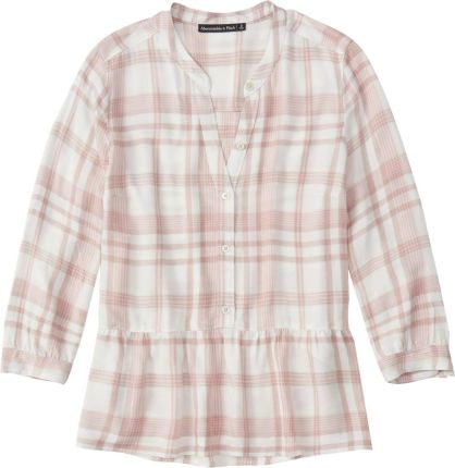 Abercrombie & Fitch Bluzka 'PLAID TIER SLEEVE BLOUSE'