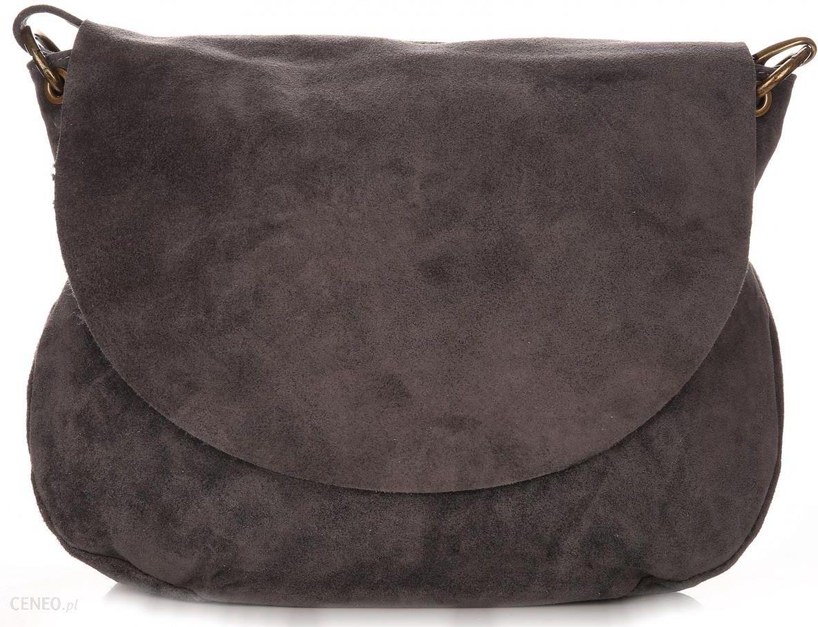 29562a095e464 Uniwersalna Torebka Skórzana Listonoszka Genuine Leather Szara (kolory) -  zdjęcie 1