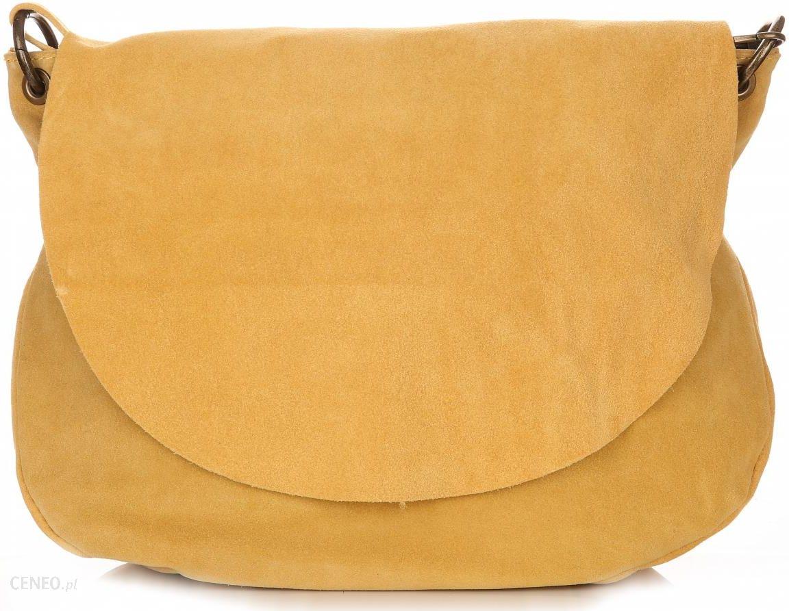d259bf500ad6b Uniwersalna Torebka Skórzana Listonoszka Genuine Leather Żółta (kolory) -  zdjęcie 1