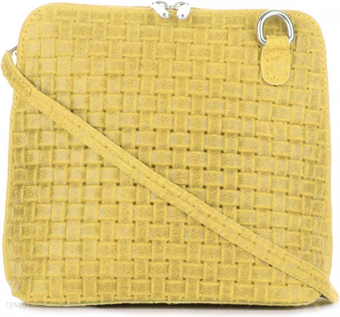 f856a33bfa23d Stylowe Włoskie Torebki Skórzane Listonoszki firmy Genuine Leather Żółte  (kolory) - zdjęcie 1