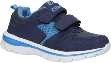 5e14125e38410 Granatowe buty sportowe na rzepy ze skórzaną wkładką Casu K-219