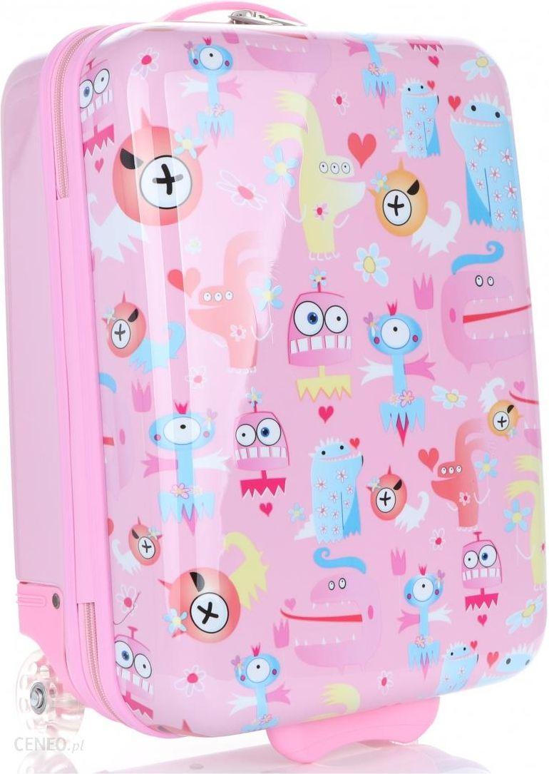 1314516131e54 Unikatowa Walizka Kabinówka Dla Dzieci Firmy Madisson Multikolor - Różowa -  zdjęcie 1