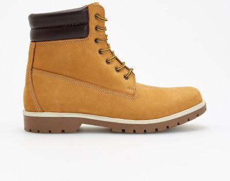c6d24b60fad6f Reserved - Skórzane buty za kostkę - Brązowy - Ceny i opinie - Ceneo.pl