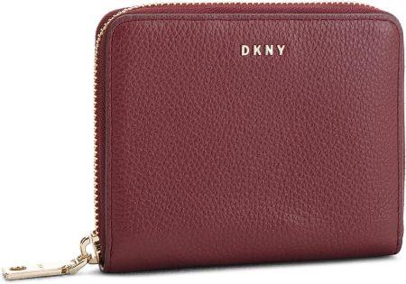 9e5dbcbf910bc Mały Portfel Damski DKNY - Sm Zip Around- Pebbl R831A656 Blood Red XOD  eobuwie