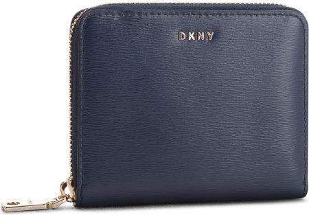 b62eb168cf6c3 Duży Portfel Damski DKNY - Bryant Sm Zip Around R8313656 Navy NVY eobuwie