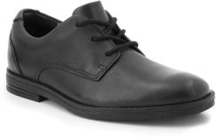 91386ece1a Półbuty CLARKS - Rufus Edge 261349926 Black Leather - Ceny i opinie ...