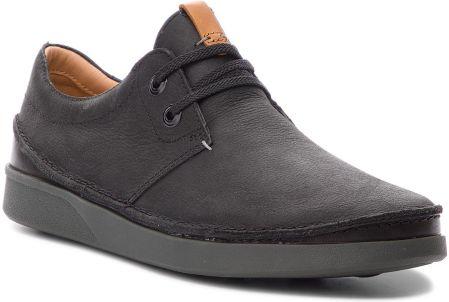 d156983456f5a Półbuty CLARKS - Oakland Lace 261353947 Black Leather eobuwie