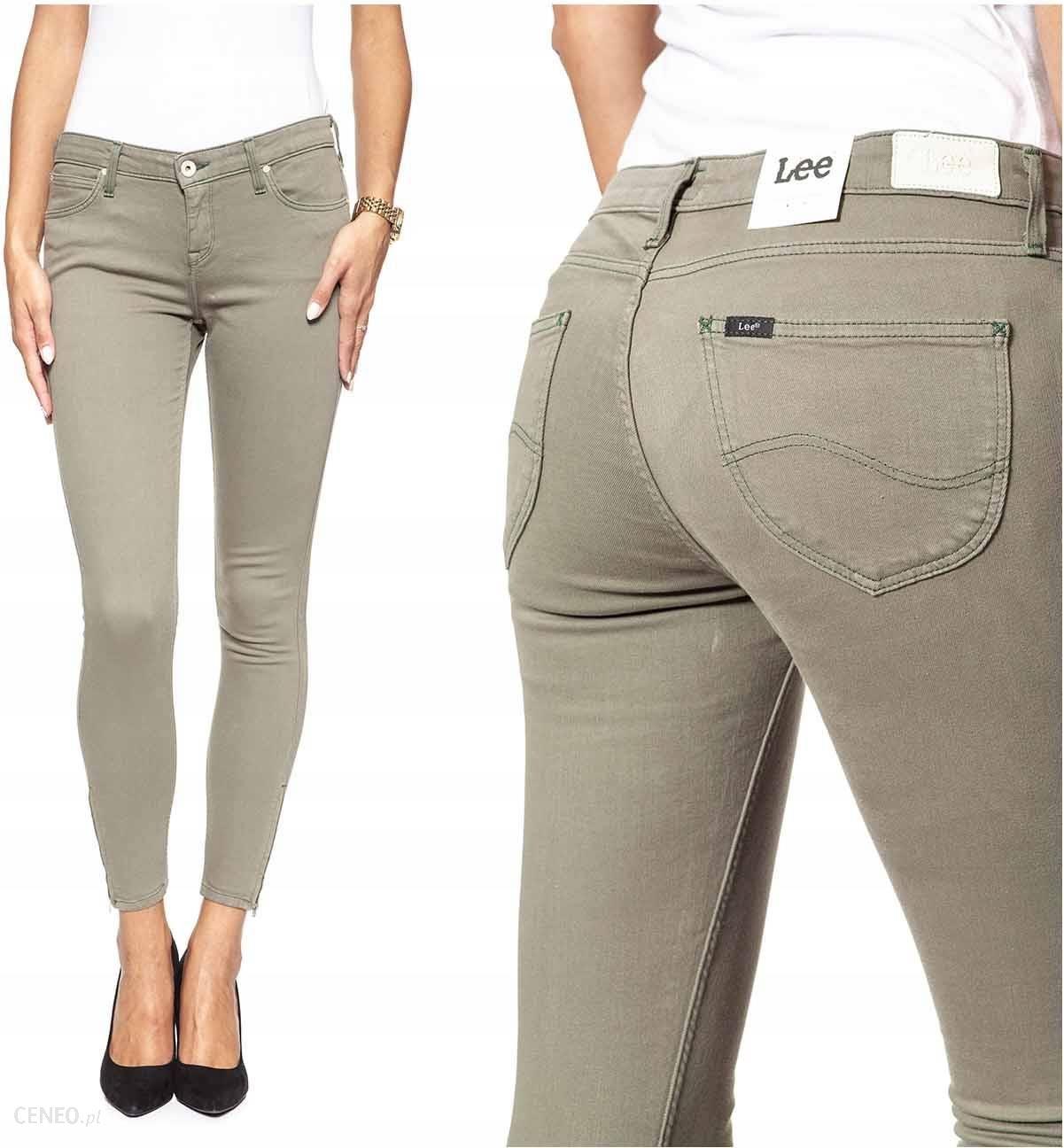 Lee Scarlett Cropped Spodnie Jeansy Khaki W28 L31 Ceny i opinie Ceneo.pl