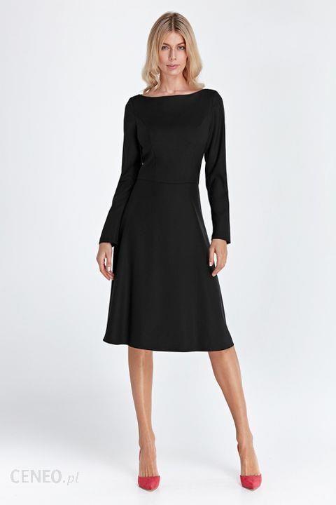 04c2d87684 Colett Elegancka Sukienka Midi Cs02 Black 42 - Ceny i opinie - Ceneo.pl