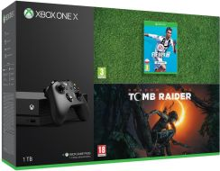 Microsoft Xbox One X 1TB + Shadow of the Tomb Raider + Fifa 19