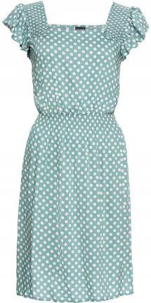 57472caea3 Sukienka dżinsowa z falban niebieski 38 M 949506 - Ceny i opinie ...
