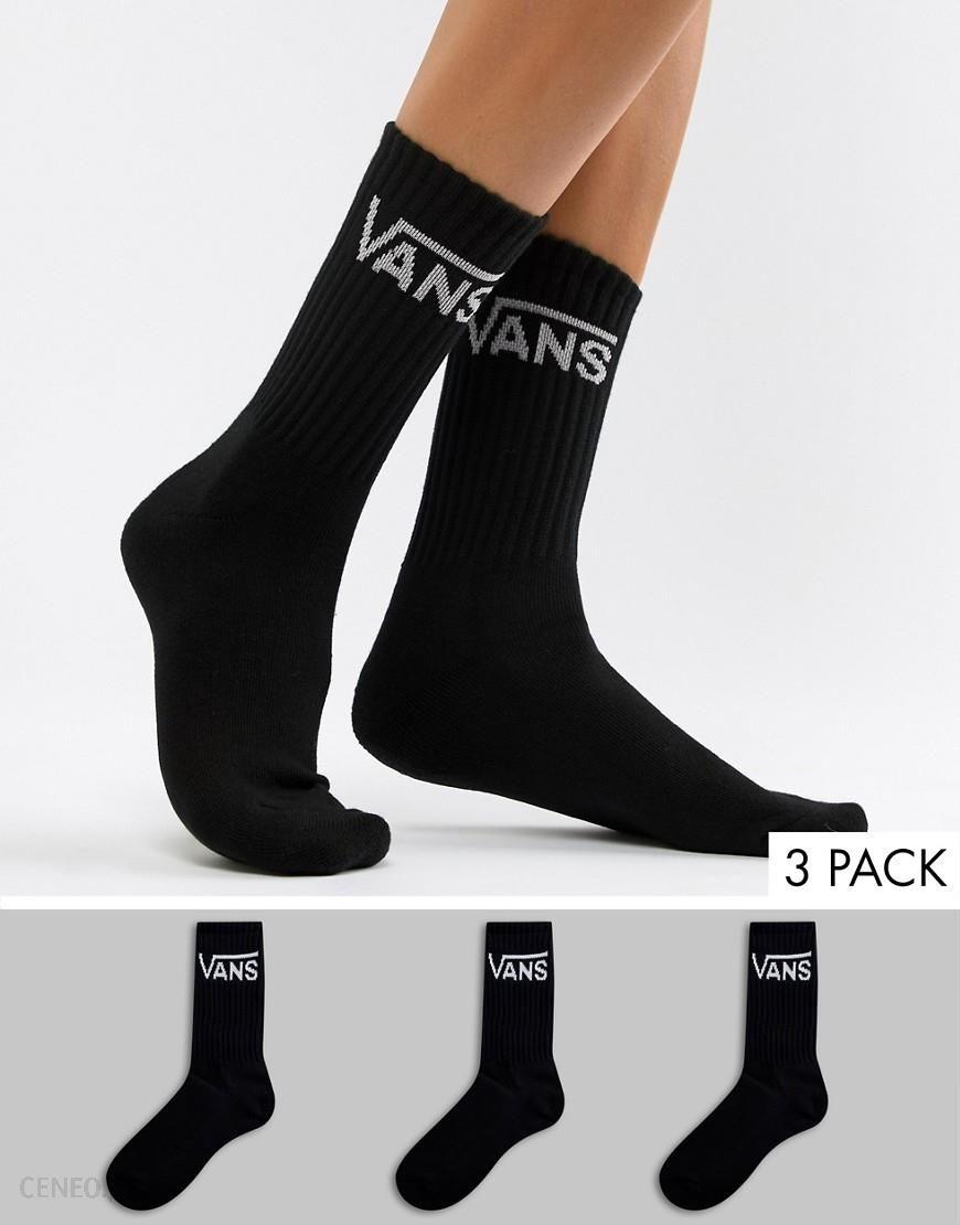 3008590856ce Vans 3 Pack Black Crew Socks - Purple - zdjęcie 1