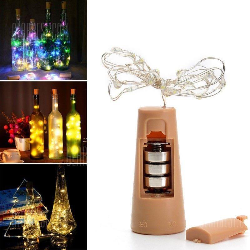 20 Led Strip Wine Bottle Lamp Fairy