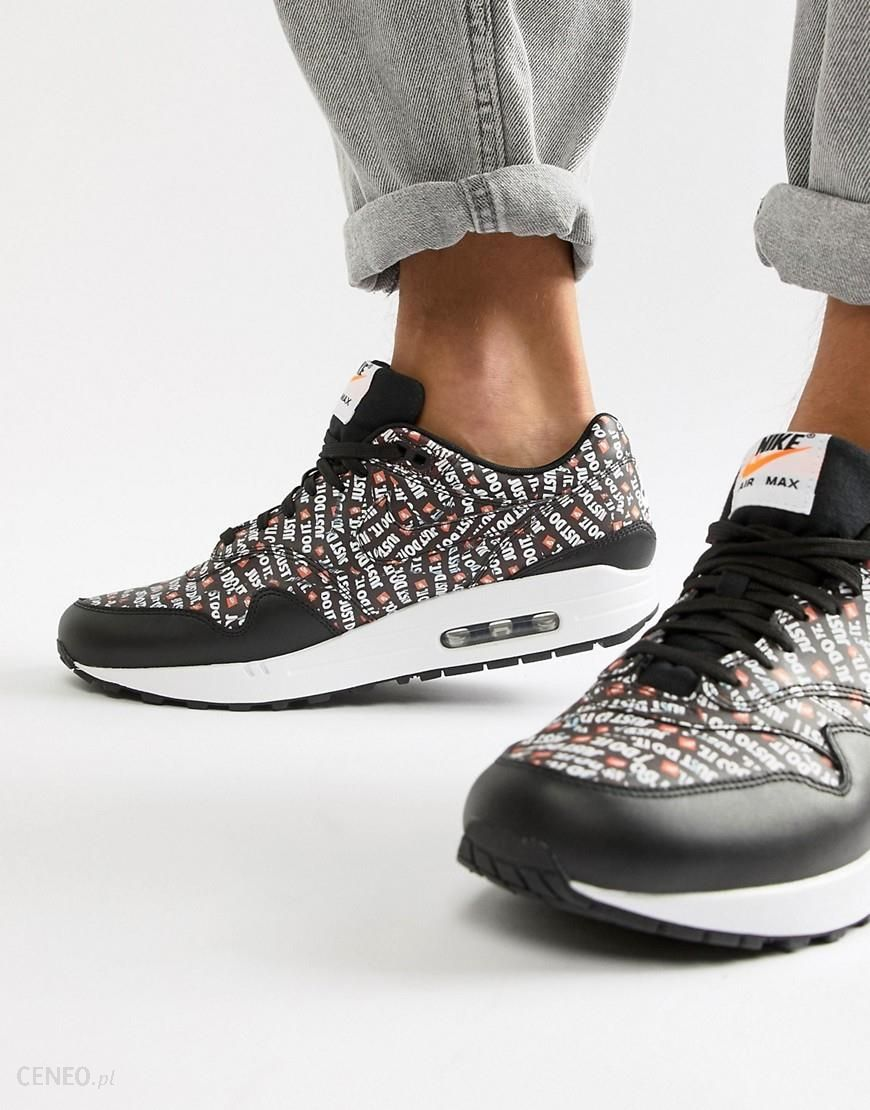 Nike Air Max 1 Premium Trainers In Black 875844 009 Black Ceneo.pl