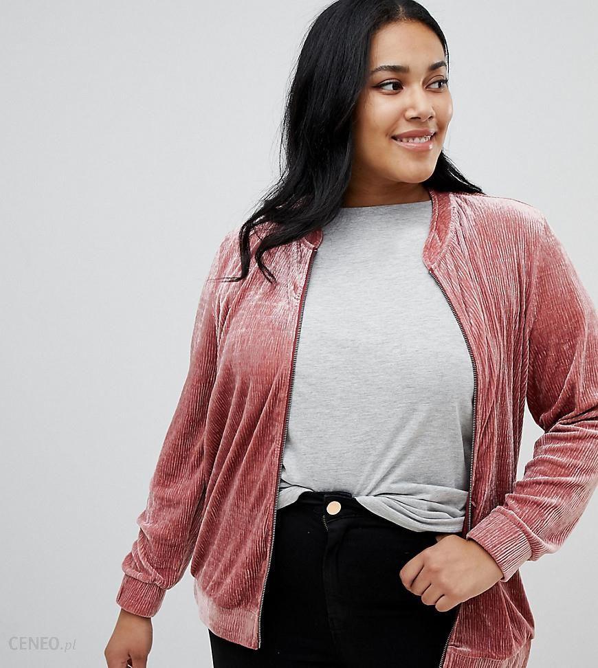 Junarose velvet bomber jacket - Pink - zdjęcie 1 014faad41