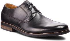 b38a786f3a95a Półbuty CLARKS - Becken Plain 261231487 Black Leather eobuwie