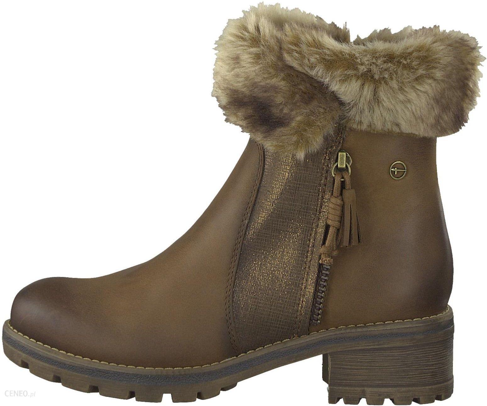 Tamaris buty za kostkę damskie 37 brązowy