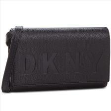 48dcdc14aace7 Torebka DKNY - Commuter Wallet On A String R835A670 Black Silver BSV eobuwie