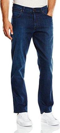 16a0bc62d2a415 Amazon Wrangler męskie dżinsy Texas ze stretchem Classic Blues - nogawka  prosta 31W / 34L