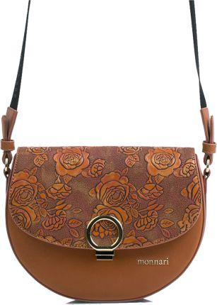 a5f35440aef1c Klasyczna listonoszka damska torebka na ramię - brązowy - Ceny i ...