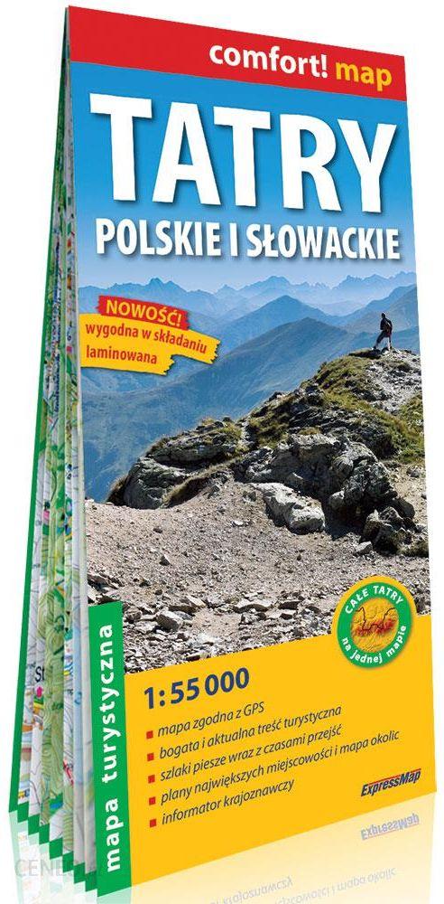 Comfort Map Tatry Polskie I Slowackie Laminowana Mapa