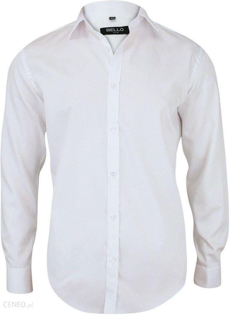 345afe83a6c9f2 Bawełniana Biała Elegancka Koszula - BELLO - Taliowana, Długi Rękaw  KSDWBELLOBS015 - zdjęcie 1