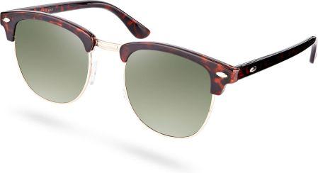 24a9c124d2 Okulary przeciwsłoneczne z zielonymi soczewkami i szylkretowymi oprawkami