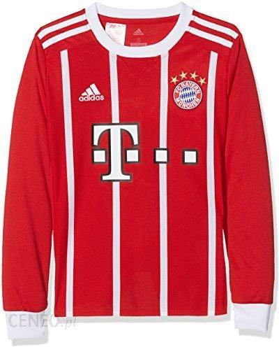 9c8719f3b9863 Amazon Koszulka adidas dzieci FC Bayern München Home LS 17/18, kolor:  czerwony, rozmiar: 140 - Ceneo.pl