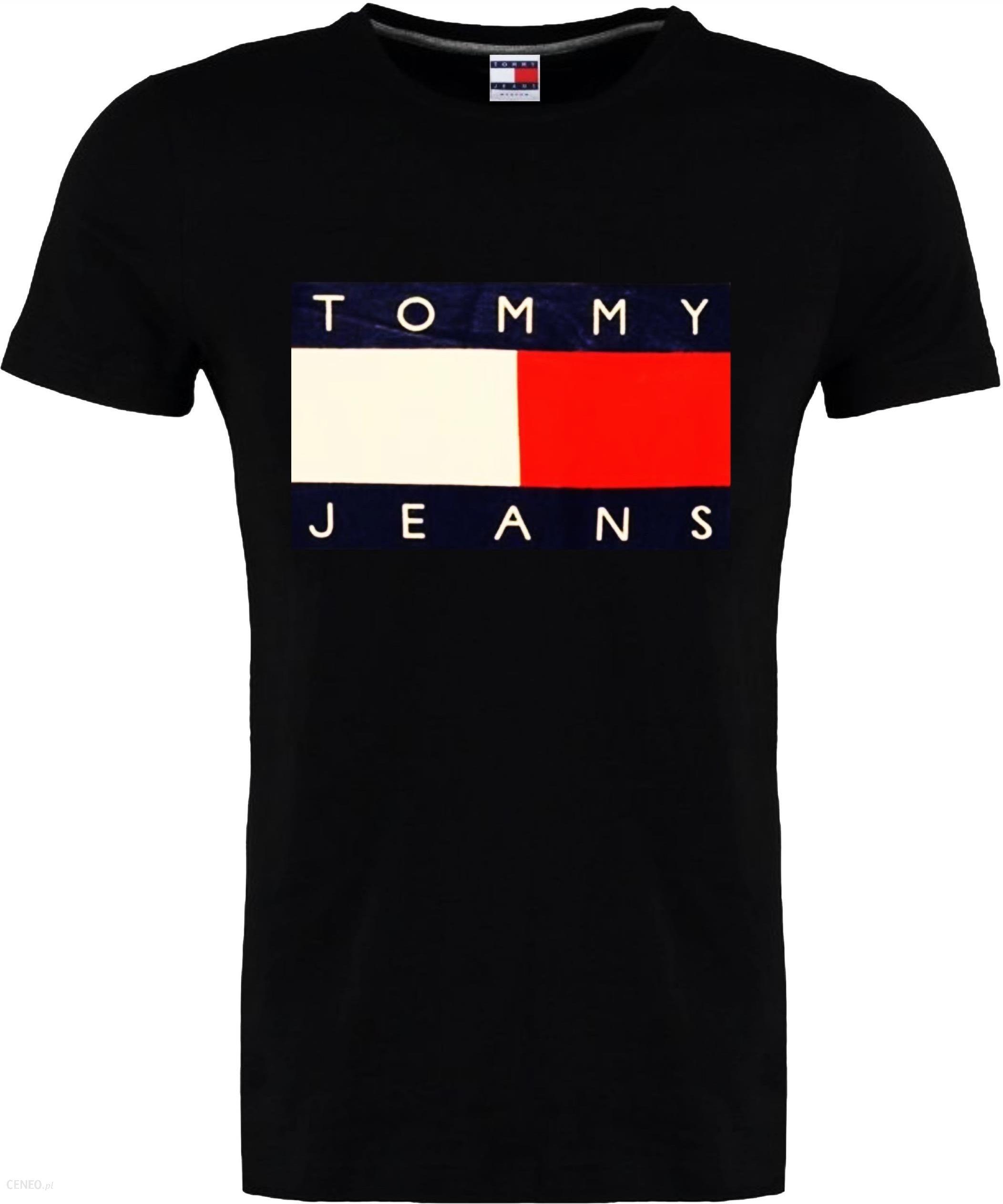 T shirt Tommy Hilfiger Jeans Czarny Oryginał L Ceny i opinie Ceneo.pl