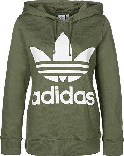Amazon Adidas Originals sweter damski trefoil bluza z kapturem dh3139 Zielony, kolor: zielony , rozmiar: 38 Ceneo.pl