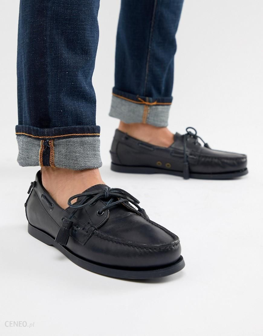 eb39ca4e Polo Ralph Lauren merton leather boat shoes in navy - Navy - Ceneo.pl
