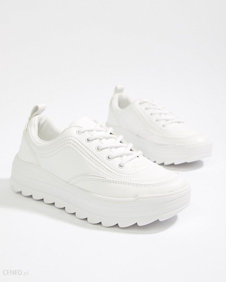 95281c557b4 Bershka chunky trainer in white - White - zdjęcie 1