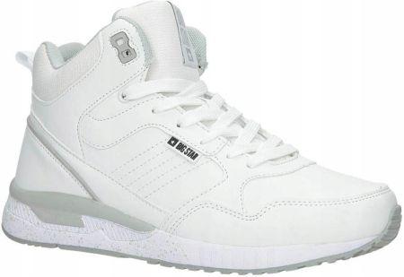 47878191 Białe buty sportowe sneakersy ocieplane sznurowane Big Star BB274638 ...