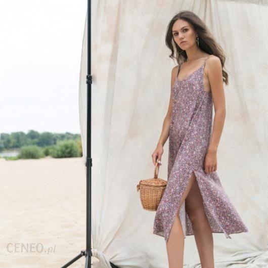 22ad8e2aa4 Sukienka z wiązaniami w kwiaty Masenso - Ceny i opinie - Ceneo.pl