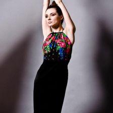 f83233f1de Czarna sukienka bez pleców FOLK Kasia Miciak Design - Ceny i opinie ...