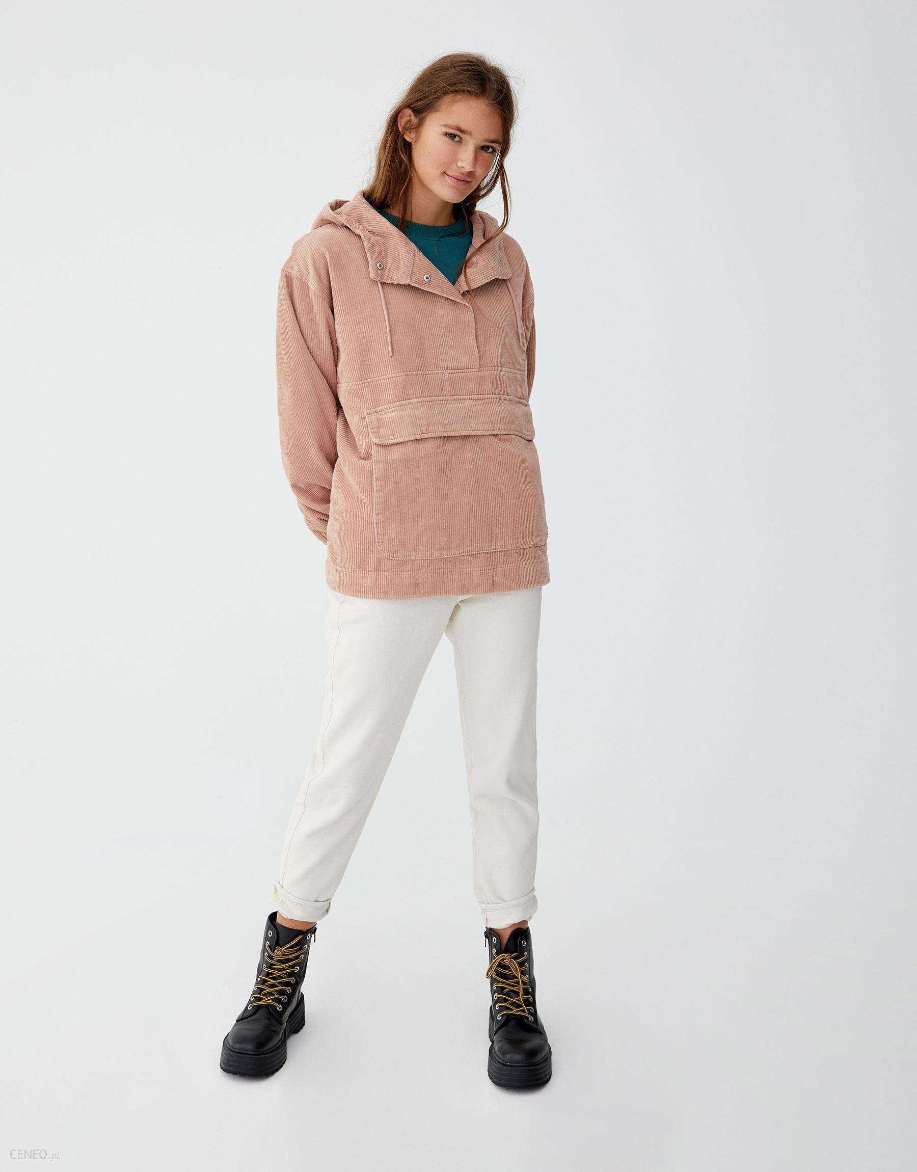 brillo de color como serch famosa marca de diseñador Cazadora canguro capucha pana Pull&Bear - Ceny i opinie - Ceneo.pl