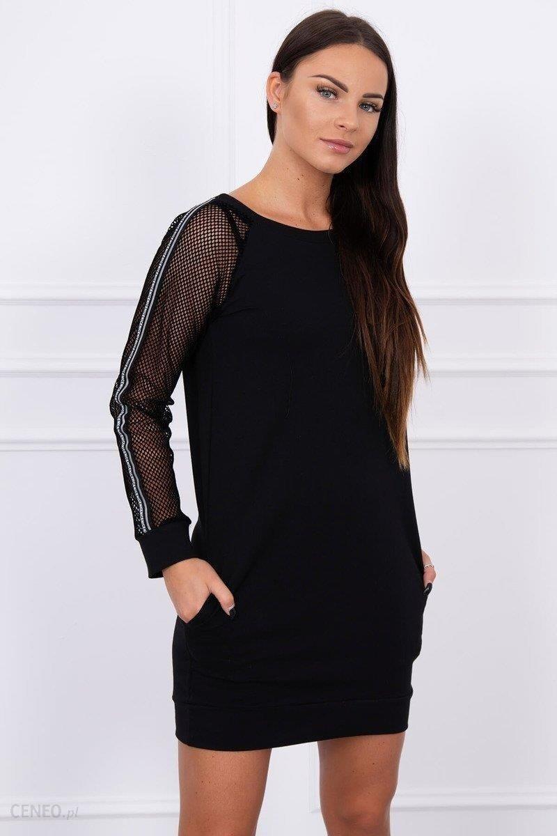 2cb7f6e645 Sukienka z rękawem z siateczki czarna - Czarny - Ceny i opinie ...