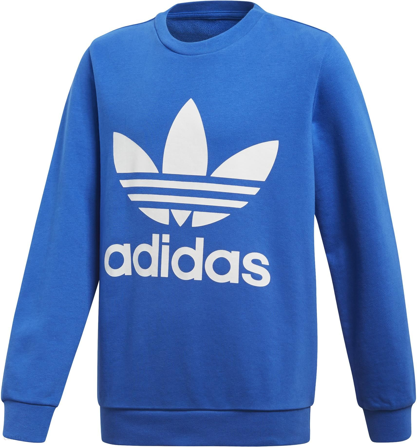 bluza adidas trefoil niebieska