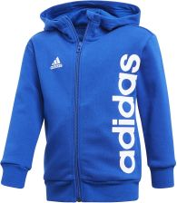 71312be17 BLUZA ADIDAS Z KAPTUREM LITTLE KIDS FULL ZIP HOODIE - NIEBIESKI, 140 adidas