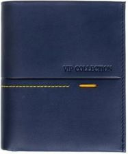 050620c3f3728 Portfel Vip Collection włoska skóra niebieski