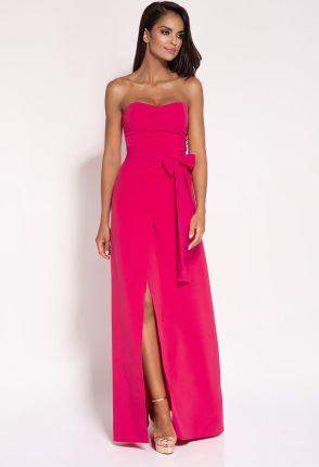 ef32ca20de Elegancka sukienka maxi bez ramiączek XL Granatowy - Ceny i opinie ...