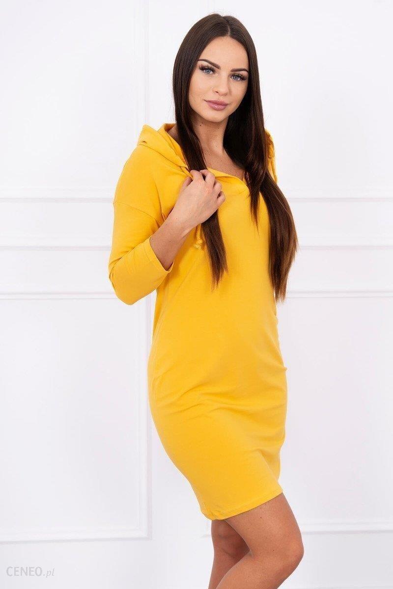 729d894e5a Sukienka dopasowana z kieszeniami musztardowa - Musztardowy - Ceny i ...