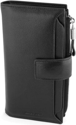 0fc8efb887dce Podobne produkty do Monnari SKÓRZANY portfel damski podkówka PUR 0758.  Długi czarny portfel z zapinką zewnętrzną