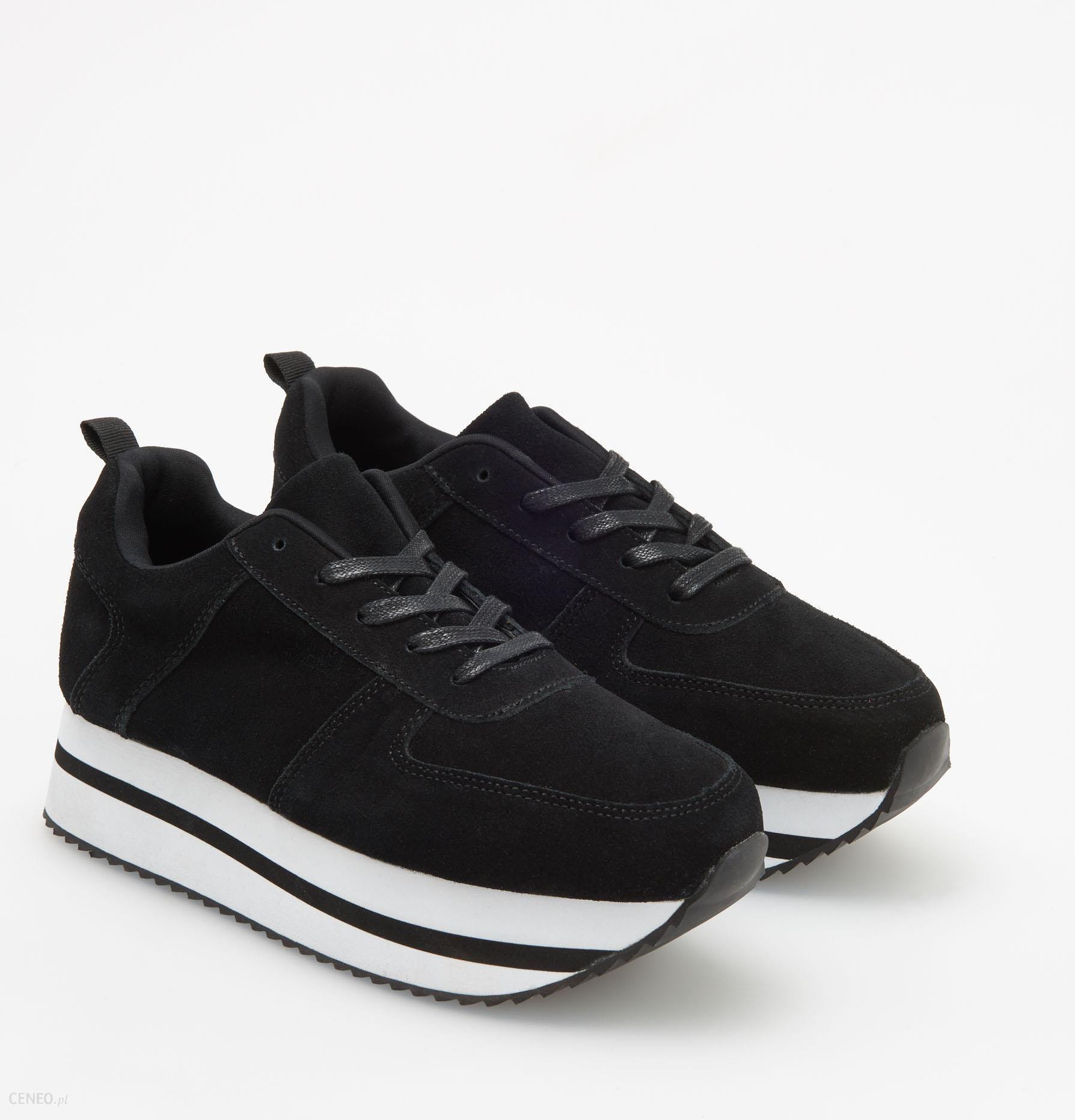 b348d1df377b3 Reserved - Skórzane buty na grubej podeszwie - Czarny - Ceny i ...