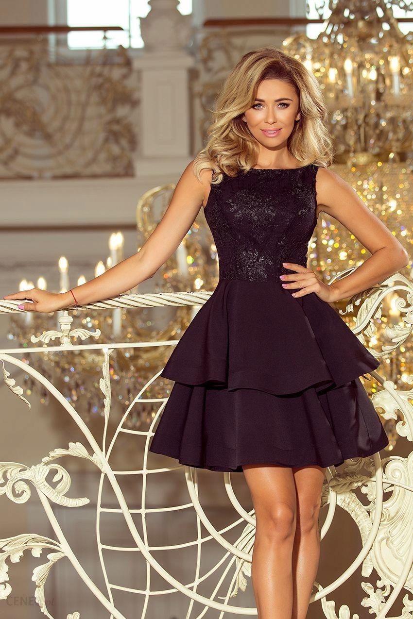 1a3e2324fd Elegancka rozkloszowana sukienka wesele Czarna XL - Ceny i opinie ...