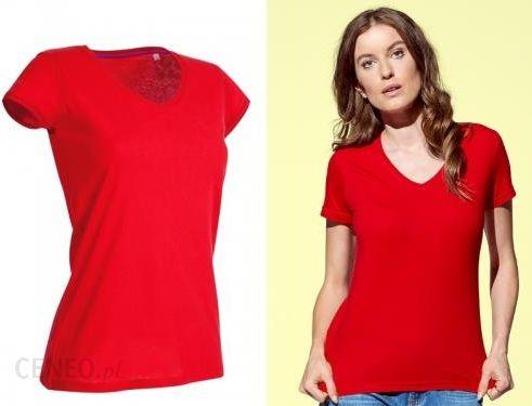 Stedman Megan V Neck ST9130 damska koszulka t shirt czerwona Crimson Red
